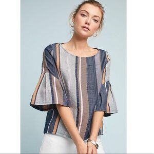Anthro Striped Jacquard Top by Dolan Left Coast